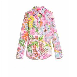 Lilly Pulitzer Target Nosie Posey Shirt XXL